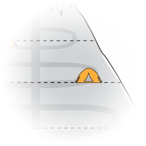 ICUnet Ausbildung Bergstation rechts Illustration