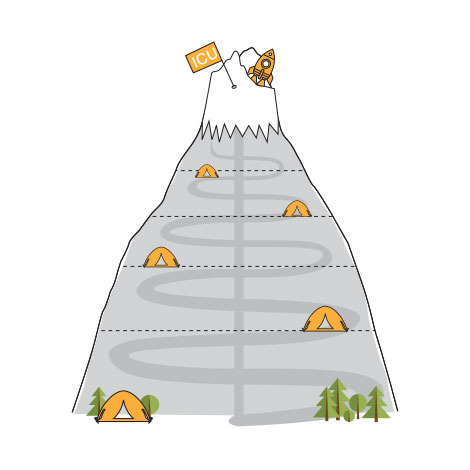 ICUnet Ausbildung Berg Illustration