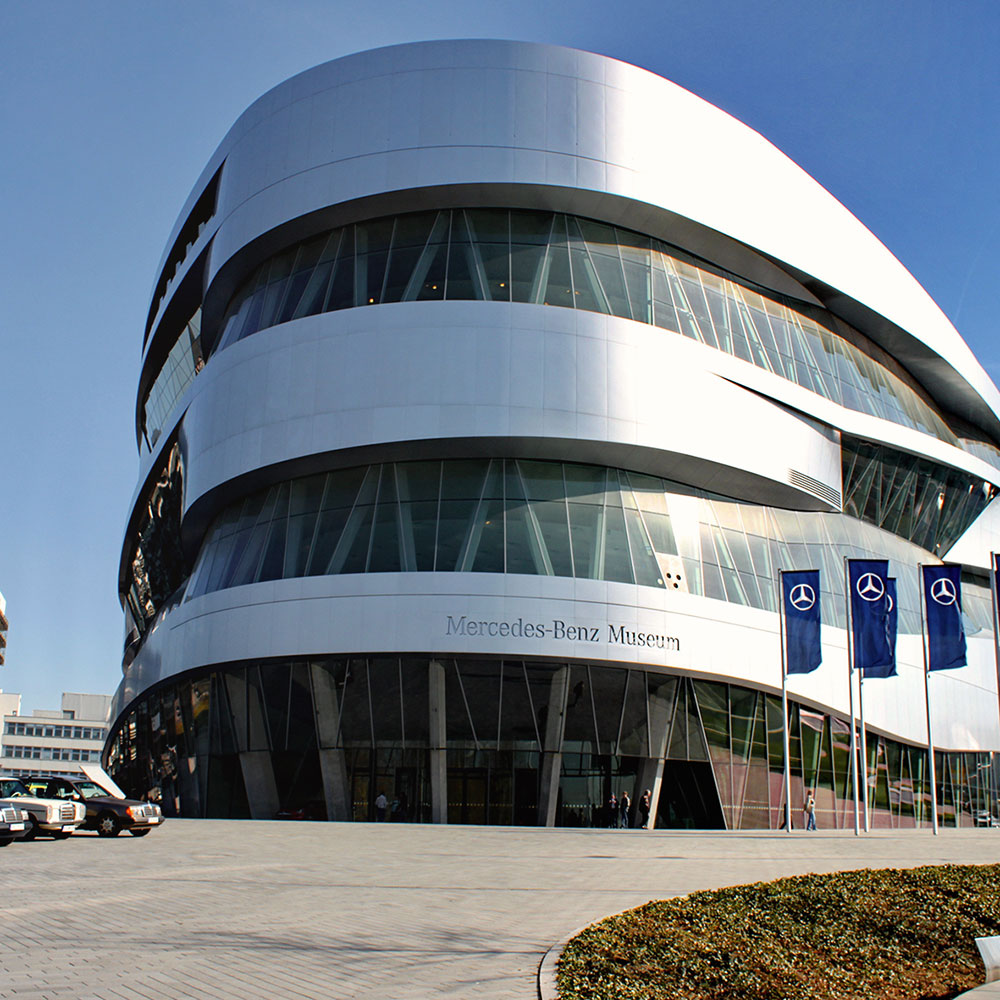 Mercedes Benz Museum in stuttgart