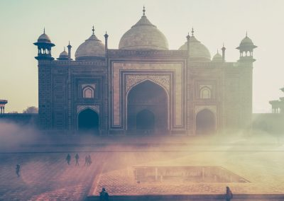 Gebäude neben dem Taj Mahal