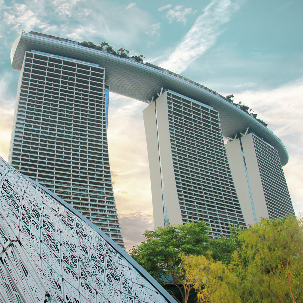 Marina Bay Gebäude in Singapore